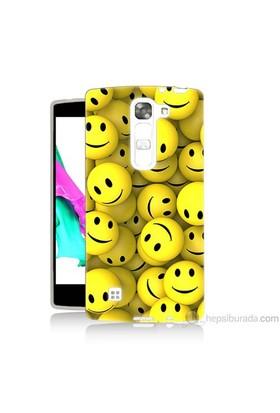 Teknomeg Lg G4c Kapak Kılıf Smile Baskılı Silikon