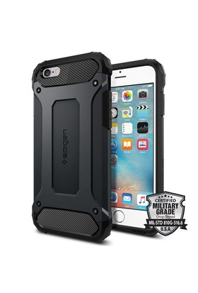 Spigen Apple iPhone 6S Kılıf Tough Armor Tech Metal Slate - 11743