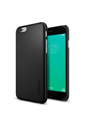 Spigen Apple iPhone 6s Plus Kılıf Thin Fit Ultra İnce Black-SGP11638