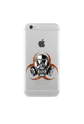 Remeto iPhone 6/6S Şeffaf Silikon Resimli Biyolojik Tehlike Apple