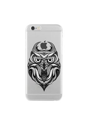 Remeto iPhone 6/6S Karakalem Baykuş Apple Şeffaf Silikon Resimli Kılıf