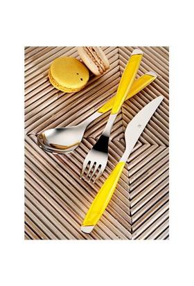 Kütahya Porselen 30 Parça 6 Kişilik Çatal Kaşık Bıçak Takımı Sarı