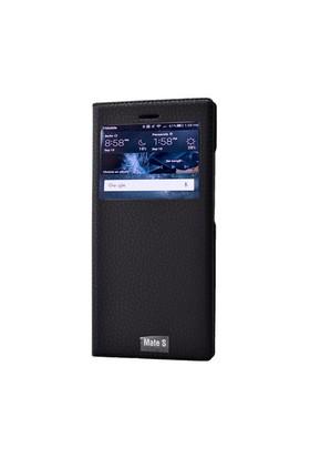 Teleplus Huawei Mate S Pencereli Kılıf Siyah
