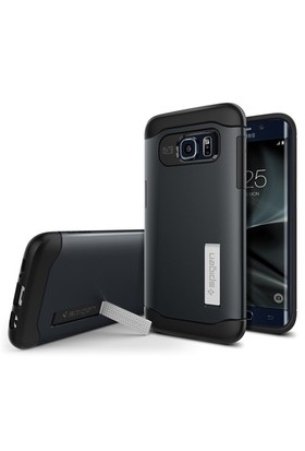 Spigen Samsung Galaxy S7 Edge Kılıf Slim Armor Metal Slate - 556CS20025