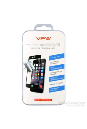 VPW Apple iPhone 6 4.7 inch Fullfıt Siyah Tempered Glass Ekran Koruyucu