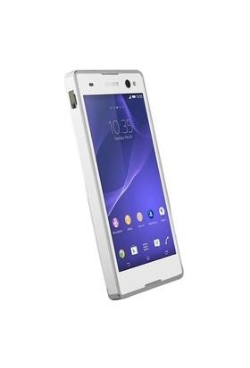 Teleplus Sony Xperia C3 Metal Çerçeveli Kılıf Gümüş