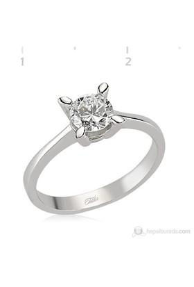 Tekbir Silver 925 Zirkon Taslı Gümüş Bayan Yüzük WRG101233