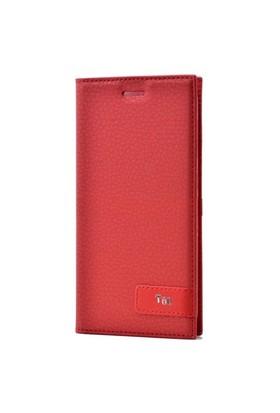 Teleplus Turkcell T60 Mıknatslı Flip Cover Kılıf Kırmızı
