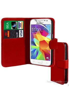 Teleplus Samsung Core Prime Cüzdanlı Kılıf Kırmızı