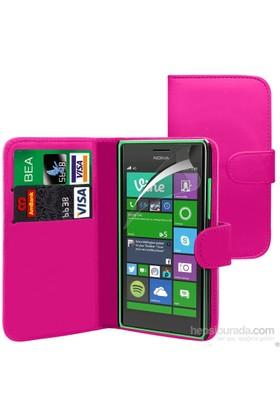 Teleplus Nokia Lumia 830 Cüzdanlı Kılıf Pembe