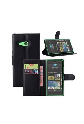 Teleplus Nokia Lumia 830 Cüzdanlı Kılıf Siyah