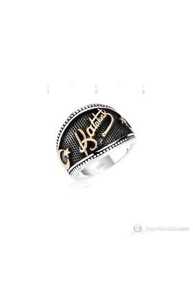 Tekbir Silver 925 Taşsız Ay Yıldız Atatürk İmzalı Erkek Yüzük MR0970062