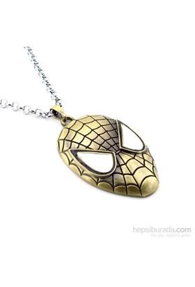 Solfera Spiderman Örümcek Adam Bronz Kolye K322