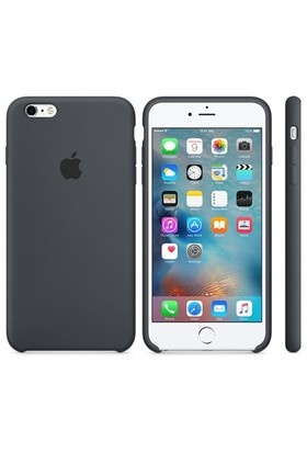Case 4U Apple iPhone 6 - 6S Plus Silikon Kılıf - Kömür Grisi