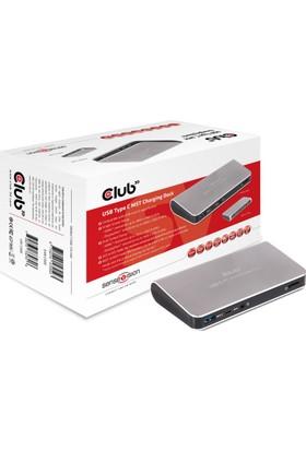 Club 3D Çift Monitör Destekli NB İstasyon USB Type C/HDMI/DP/3x /GB ETH/Hızlı Şarj USB Kablosu (CSV-1560)