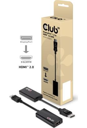 Club 3D Display Port-HDMI 2.0 Adaptör 1.2-HDMI 2.0/4K UHD 60Hz Çıkış Desteği Kablo (CAC-1070)