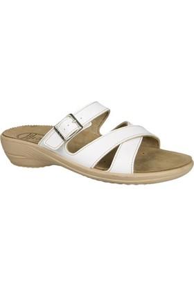 Ceyo Kadın Terlik Beyaz 9855-3