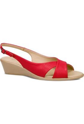 Ceyo Kadın Sandalet Kırmızı 9887-2
