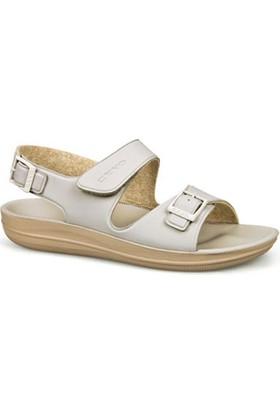 Ceyo Kadın Sandalet Bej 9890