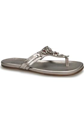 Ceyo Kadın Terlik Gümüş 9833-33