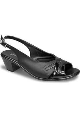 Ceyo Kadın Sandalet Siyah 9888-12