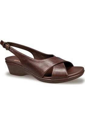Ceyo Kadın Sandalet Kahverengi 9922