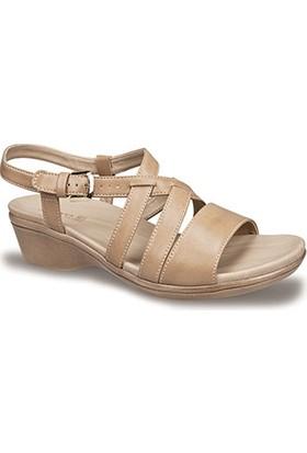 Ceyo Kadın Sandalet Camel 9922-2