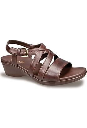 Ceyo Kadın Sandalet Kahverengi 9922-2