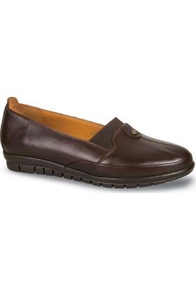 Ceyo Kadın Ayakkabı Kahverengi 5688