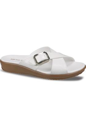 Ceyo Kadın Terlik Beyaz 9200-11