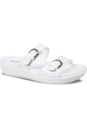 Ceyo Kadın Terlik Beyaz 9905-5