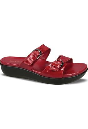Ceyo Kadın Terlik Kırmızı 9905-5