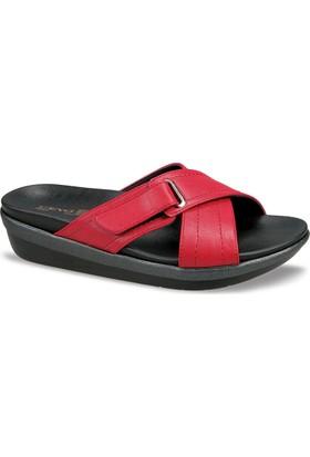 Ceyo Kadın Terlik Kırmızı 9941-2