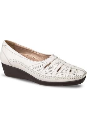 Ceyo Kadın Ayakkabı Bej 9924-17