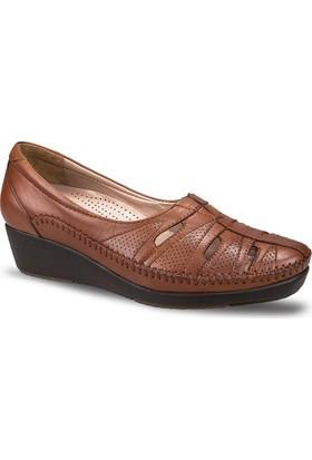 Ceyo Kadın Ayakkabı Taba 9924-17