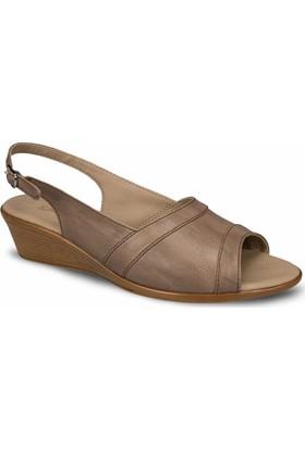 Ceyo Kadın Sandalet Vizon 9887-13