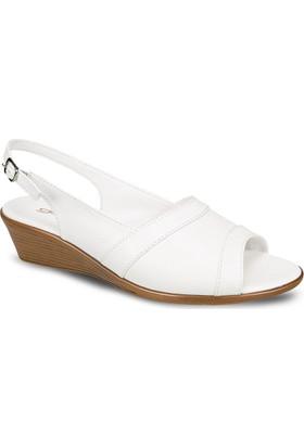 Ceyo Kadın Sandalet Beyaz 9887-13