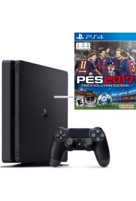 Sony Ps4 Slim 500 GB Cuh - 2016A Oyun Konsolu + Pes 2017 (Türkçe) Ps4 Oyun