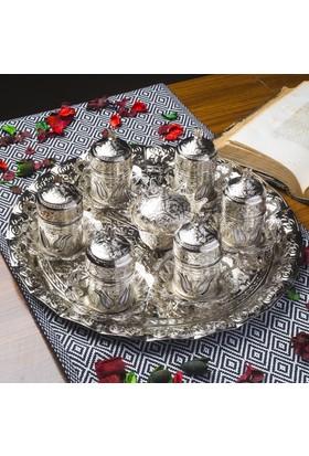 Prime Craft Kahve Takımı 6'Li Gümüş