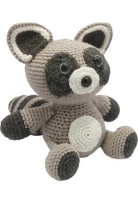 Knitting Toy Rakun El Örgüsü Organik Oyuncak