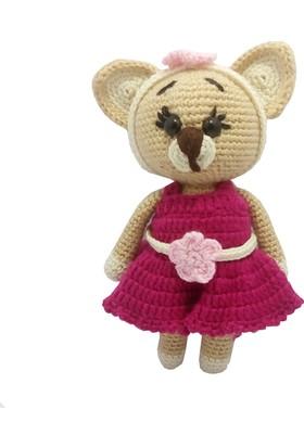 Knitting Toy Kedi Kız Organik Oyuncak
