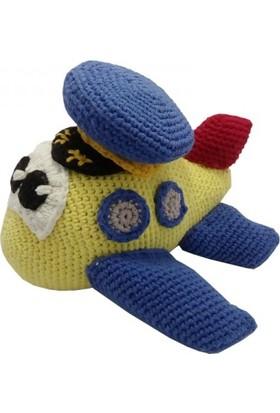 Knitting Toy El Örgüsü Sevimli Uçak
