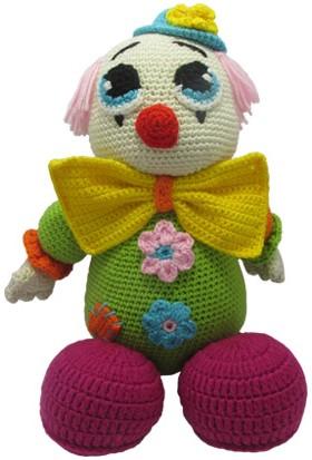 Knitting Toy Sevimli Palyaço El Ögüsü - Amigurumi Oyuncak