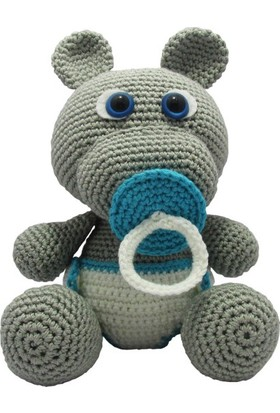 Knitting Toy Bebek Hipopotam El Örgüsü Oyuncak