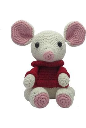 Knitting Toy Sevimli Fare El Örgüsü - Amigurumi Oyuncak