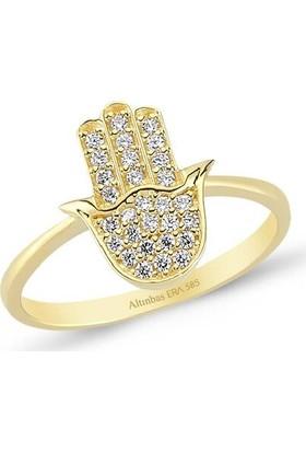Altınbaş Y24671-00-6823 Altın Fatıma Eli Yüzük