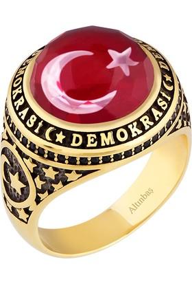 Altınbaş Ayey6876 Altın Erkek Demokrasi Yüzüğü