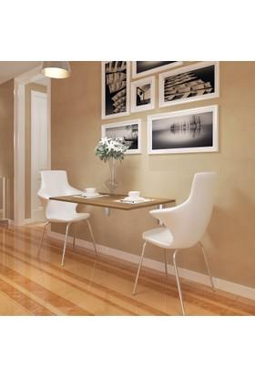 Eyibil Mobilya Ege Açılır Kapanır Çalışma Masası Mutfak Masası Katlanır Duvar Masası Ceviz