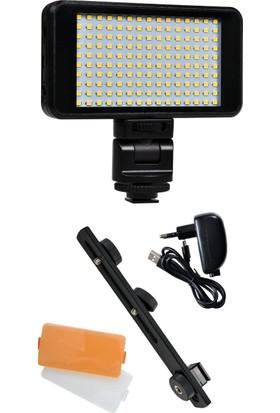 Hobimtek Profesyonel Kamera Işığı 150 Led Dahili Batarya Tepe Lambası