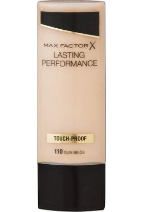 Max Factor Lasting Performance İz Bırakmayan Sıvı Fondöten 110 Sun Beige